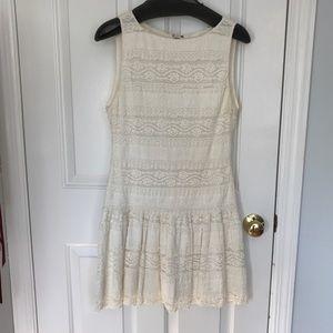 Alice + Olivia drop-waist lace dress